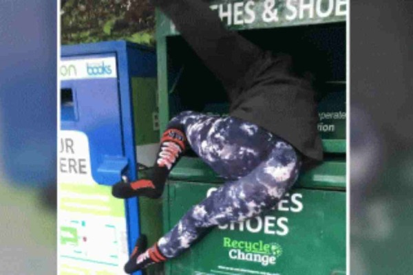 Αδιανόητο: Γυναίκα σφήνωσε σε κάδο απορριμάτων και φώναζε για βοήθεια