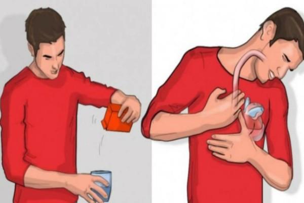 Βάλτε μαγειρική σόδα σε νερό και πιείτε το - Αν γίνει μέσα στα επόμενα 5 λεπτά αυτό, σημαίνει ότι...