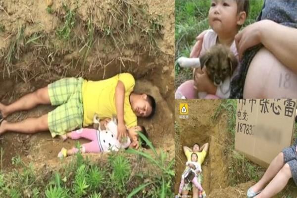 Ραγίζει καρδιές- Αυτός ο πατέρας βάζει στην κόρη του να κάθεται στον μελλοντικό της τάφο για τον πιο θλιβερό λόγο!