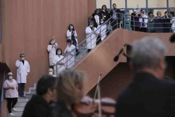 Μεγάλη συγκίνηση προκάλεσε η συναυλία από την ορχήστρα της ΕΡΤ στο ''Αττικόν''