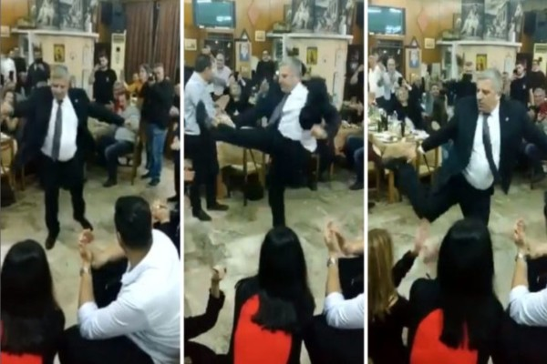 O Γιώργος Πατούλης χόρεψε το πιο βαρύ ζεϊμπέκικο σε κοπή της πίτας - Άφησε εποχή