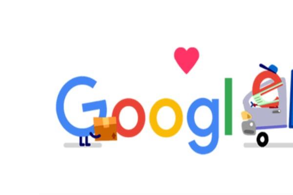 Google - doodle: Αφιερωμένο στους εργαζόμενους σε υπηρεσίες συσκευασίας, αποστολών και παραδόσεων