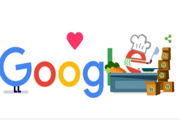 Google - doodle: Αφιερωμένο στους εργαζόμενους σε υπηρεσίες τροφίμων