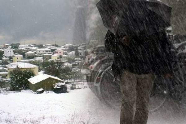 Καιρός: Βροχές, καταιγίδες και χιονοπτώσεις σε όλη τη χώρα - Έως 9 μποφόρ οι άνεμοι