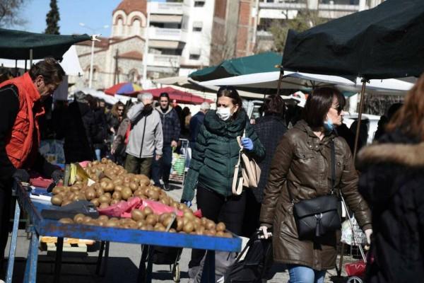 Κορωνοϊός: Σκηνές χάους σε λαϊκή αγορά στον Πειραιά!