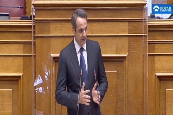 LIVE - Βουλή: Η ομιλία του Κυριάκου Μητσοτάκη για τα οικονομικά μέτρα της πανδημίας