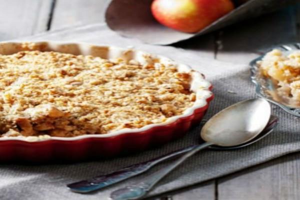 Πεντανόστιμη μηλόπιτα με τριφτή ζύμη!