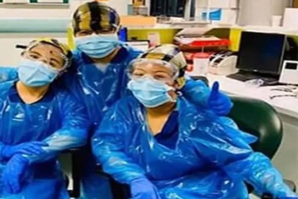 Απίστευτο: Νοσοκόμες φορούν σακούλες σκουπιδιών σαν στολή κορωνοϊού!
