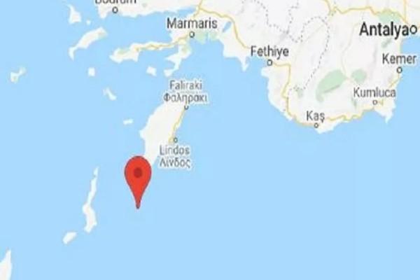 Σεισμός στο νοτιοανατολικό Αιγαίο - Ανοιχτά από Ρόδο και Κάρπαθο
