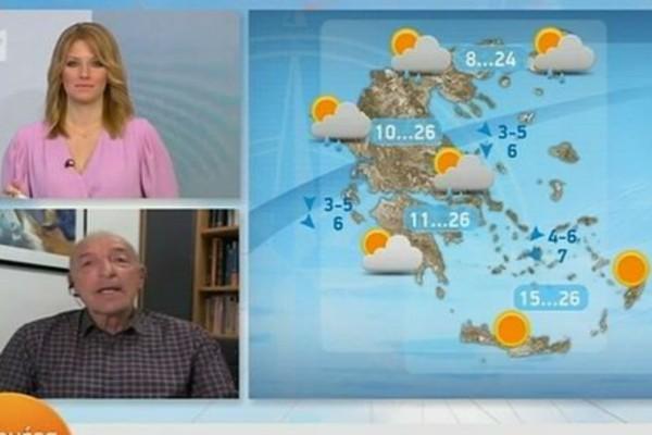 «Χαμήλες για την εποχή θερμοκρασίες - Βροχές όλη την εβδομάδα» - «Καμπανάκι» από τον Τάσο Αρνιακό (Video)
