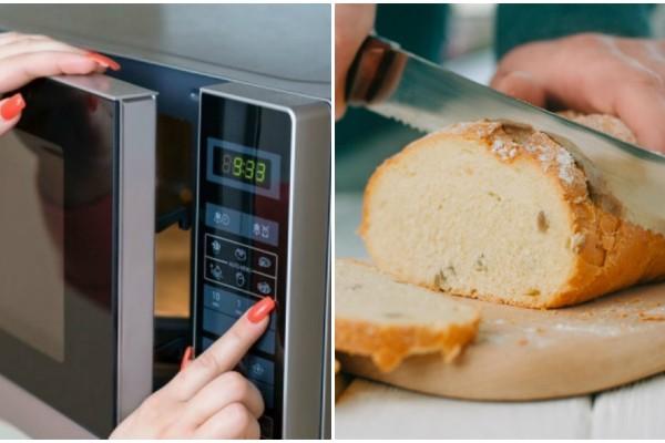 Έβαλε στο φούρνο μικροκυμάτων μια φέτα ψωμί κι ένα ποτήρι νερό - Μόλις δείτε το λόγο θα τρέξετε να το κάνετε!
