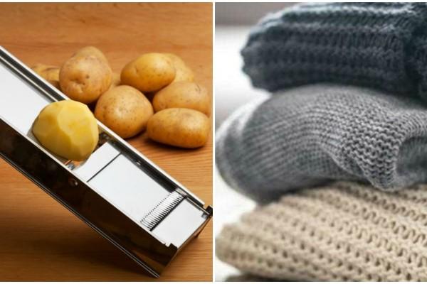 Πήρε μια φέτα πατάτας και έτριψε το αγαπημένο της πουλόβερ - Μόλις δείτε το λόγο θα τρέξετε να το κάνετε