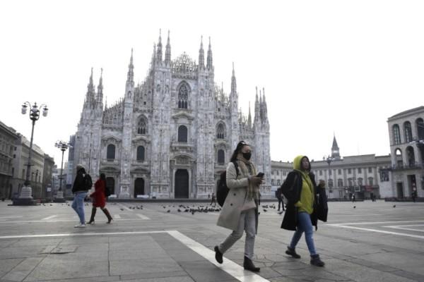 Κορωνοϊός στην Ιταλία: Μειώνεται η μεταδοτικότητα του ιού στην Λομβαρδία