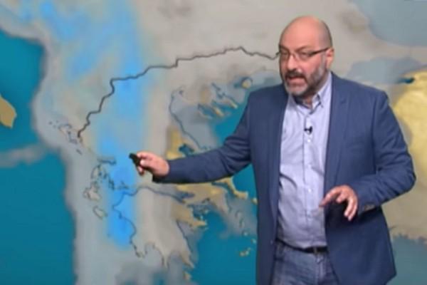 «Έρχονται μπόρες και τοπικές καταιγίδες - Προσοχή...» - Προειδοποίηση από τον Σάκη Αρναούτογλου (Video)