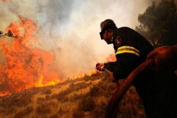 Φωτιά στα Μέγαρα - Μεγάλη κινητοποίηση της Πυροσβεστικής (photo)