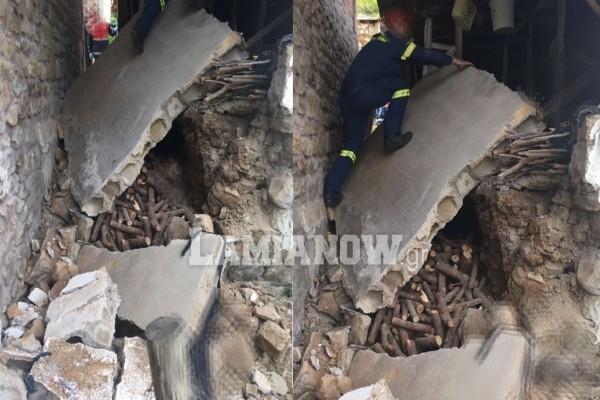 Σοκ στο Καρπενήσι: 60χρονος καταπλακώθηκε από τοίχο και πέθανε