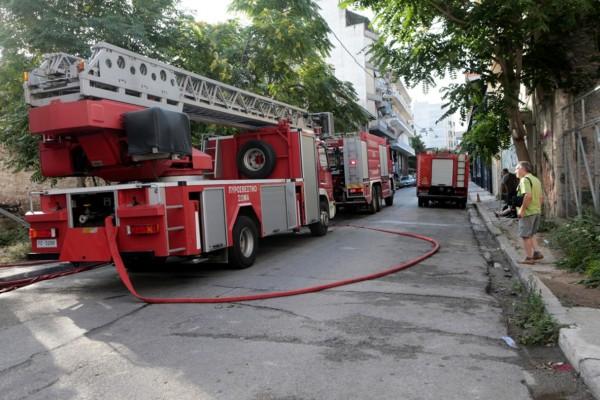 Συναγερμός: Φωτιά σε υπόγειο στο Μεταξουργείο