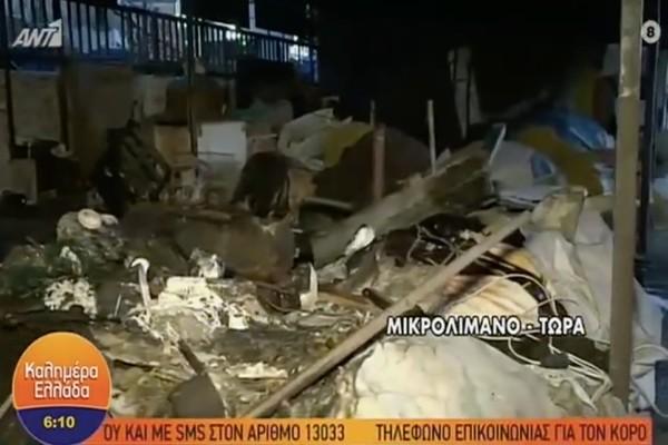Χαμός στον Πειραιά: Στις φλόγες ταβέρνα στο Μικρολίμανο