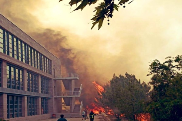 Πυρκαγιές στα κατεχόμενα χωριά Διόριος και Κορμακίτης