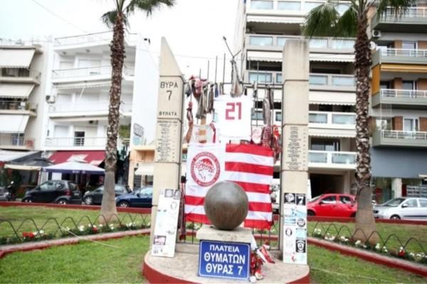 Ντροπή: Άγνωστοι βανδάλισαν το μνημείο των θυμάτων της Θύρας 7 στο «Γ. Καραϊσκάκης»