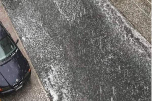 Επιστροφή στο χειμώνα στην Ξάνθη - Υδροστρόβιλοι και χαλάζι