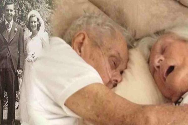 Θα δακρύσετε: Αυτό το ηλικιωμένο ζευγάρι πεθαίνει αγκαλιά μετά από 75 χρόνια γάμου - Η τελευταία τους μέρα συγκινεί