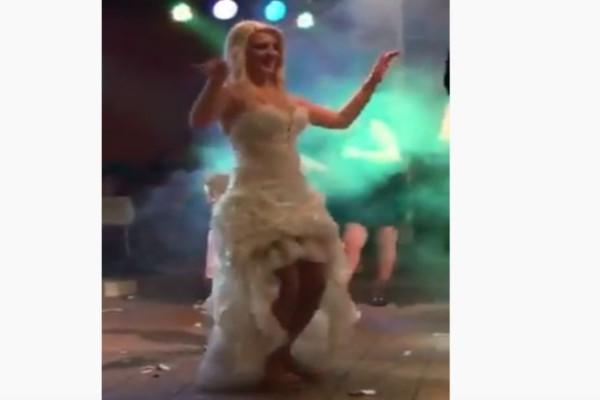 Τσιφτετέλι νύφης χωρίς...τακούνια που αναστάτωσε - Τρελό ξεφάντωμα