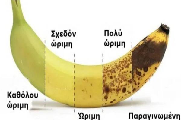Μπανάνες: Τα διαφορετικά οφέλη που έχει με βάση το χρώμα της και ο λόγος που ποτέ δεν πρέπει να την πετάμε