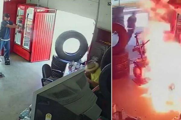 Βίντεο σοκ: Καρέ-καρέ η δολοφονία ιδιοκτήτη συνεργείου από πληρωμένους εκτελεστές - Αδειάζουν το όπλο πάνω του και του βάζουν φωτιά