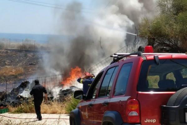 Φωτιά στα Χανιά (Video)