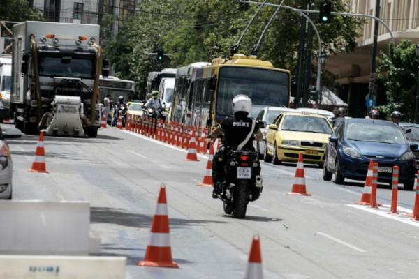 «Ασφυξία» στους δρόμους της Αθήνας: Σε εξέλιξη τα έργα για τον Μεγάλο Περίπατο - Εναλλακτικές διαδρομές μετακίνησης