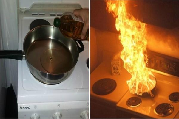 Προσοχή κίνδυνος: Μην σβήνετε φωτιά σε τηγάνι με καυτό λάδι και...- Δείτε τι θα συμβεί
