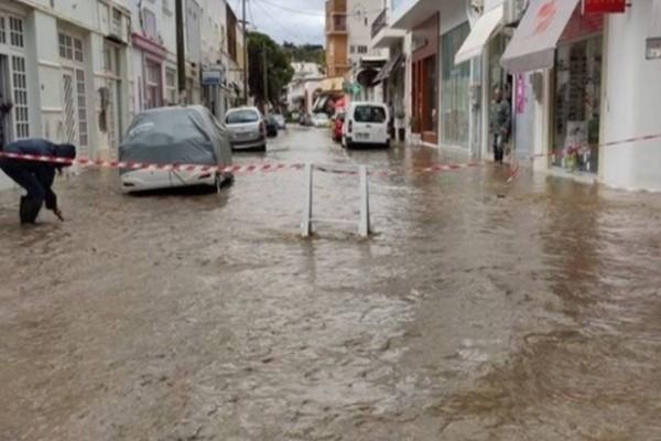 Σε κατάσταση εκτάκτου ανάγκης μεγάλο νησί της Ελλάδος από την κακοκαιρία