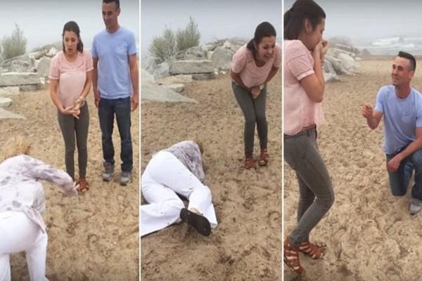 Αυτή η πεθερά εμφανίστηκε στην πρόταση γάμου που έκανε στην κόρη της - Μόλις τους είδε...