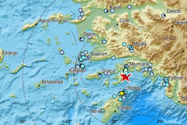 «Διπλός» σεισμός στη Ρόδο (photo-video)