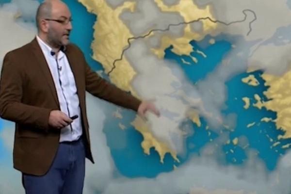 «Άστατος ο καιρός σε αυτά τα μέρη της χώρας και χειρότερη μέρα η...» - Ο Σάκης Αρναούτογλου προειδοποιεί