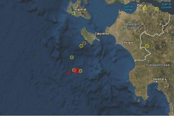 Σεισμός 4 Ρίχτερ νοτιοδυτικά της Ζακύνθου