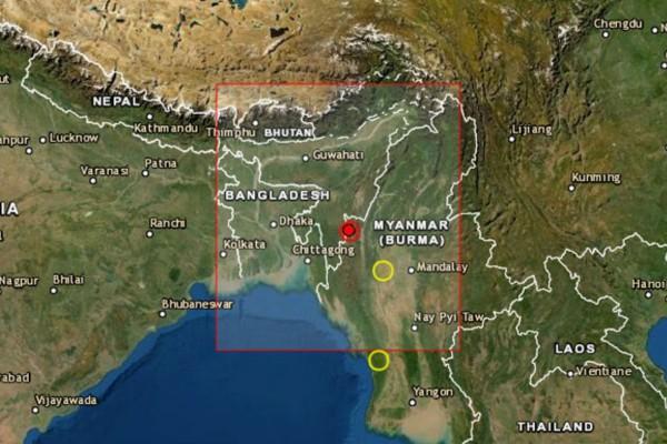 Σεισμός 5,1 Ρίχτερ στα σύνορα Μιανμάρ-Ινδίας