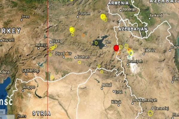 Σεισμός 5,3 Ρίχτερ στα σύνορα Τουρκίας-Ιράν