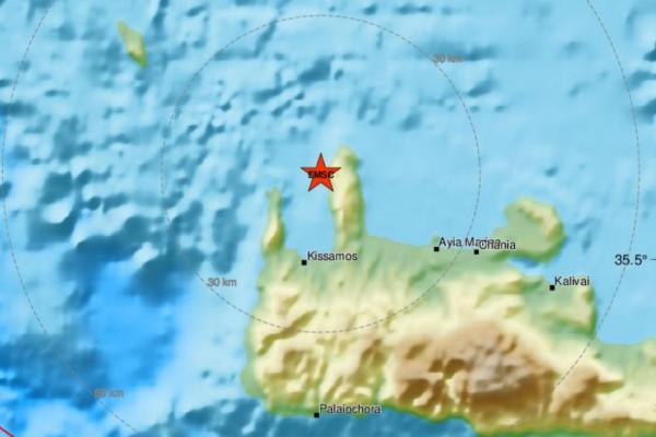 Σεισμός στα Χανιά - Μόλις 2 χλμ το εστιακό βάθος