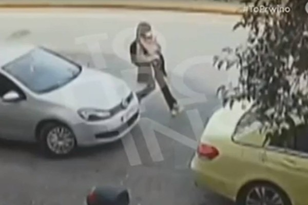 Καρέ καρέ το βίντεο ντοκουμέντο από την επίθεση! Η 35χρονη τρέχει αμέσως μετά το χτύπημα - Για πρώτη φορά!