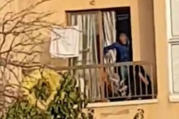 28χρονος ξυλοκόπησε τη σύντροφό του και τον σκύλο τους στο μπαλκόνι - Σοκαριστικό βίντεο