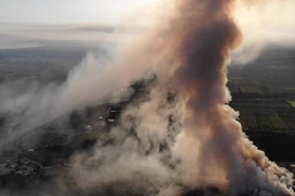 Χάος στην Κορινθία: Η φωτιά έκαψε σπίτια