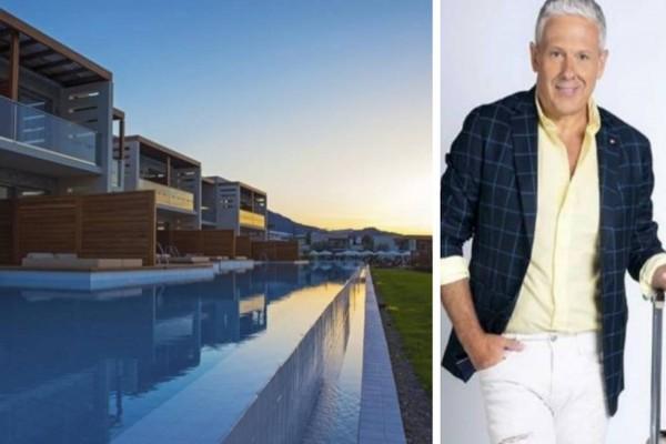 Τάσος Δούσης: Ονειρεμένο ξενοδοχείο στη Ρόδο με μαγευρική θέα και βαθμολογία 9,4