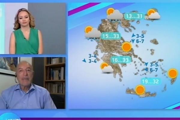 «Μπόρες και σποραδικές βροχές θα χτυπήσουν...» - Προειδοποίηση από τον Τάσο Αρνιακό (Video)