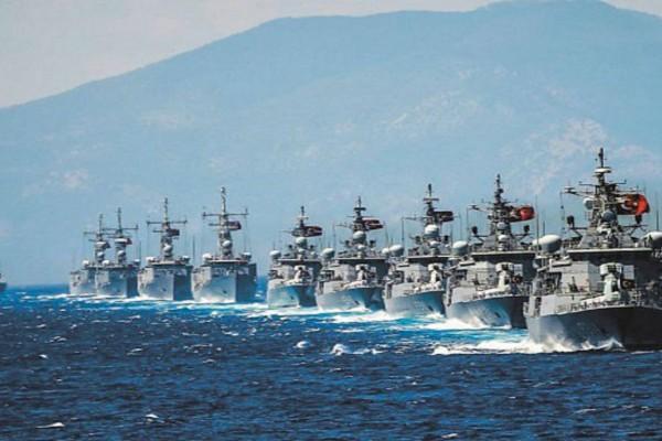 Συναγερμός στις Ένοπλες Δυνάμεις: Η Τουρκία στέλνει 19 πολεμικά και το Ορούτς Ρέις στο Καστελόριζο