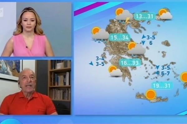 Τάσος Αρνιακός: «Hλιοφάνεια σε όλη τη χώρα αλλά... δεν θα γλυτώσουμε τις βροχές» (Video)