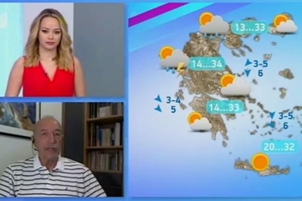 «Καλοκαιρία αλλά με τοπικές μπόρες... Το Σαββατοκύριακο δυστυχώς...» - Η πρόγνωση του Τάσου Αρνιακού για την εξέλιξη του καιρού (Video)