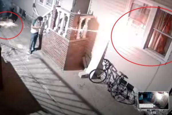 36χρονος συνελήφθη για εμπρησμό του σπιτιού του - Σημάδευε με πυροτεχνήματα το... παράθυρο (Video)