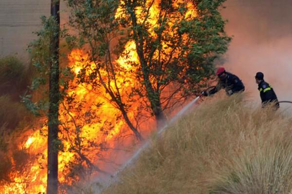 Φωτιά στην Κόρινθο: Εκκενώνεται κατασκήνωση